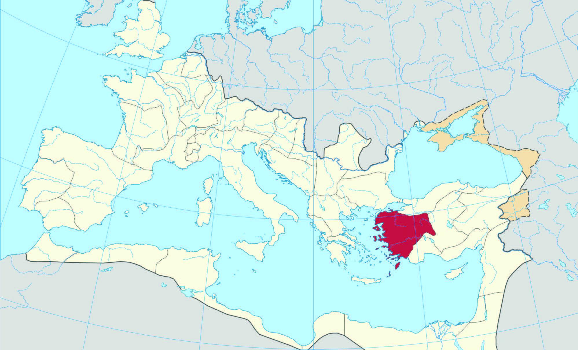 Asya eyaletinin, Roma İmparatorluğu içinde vurgulanmış formu