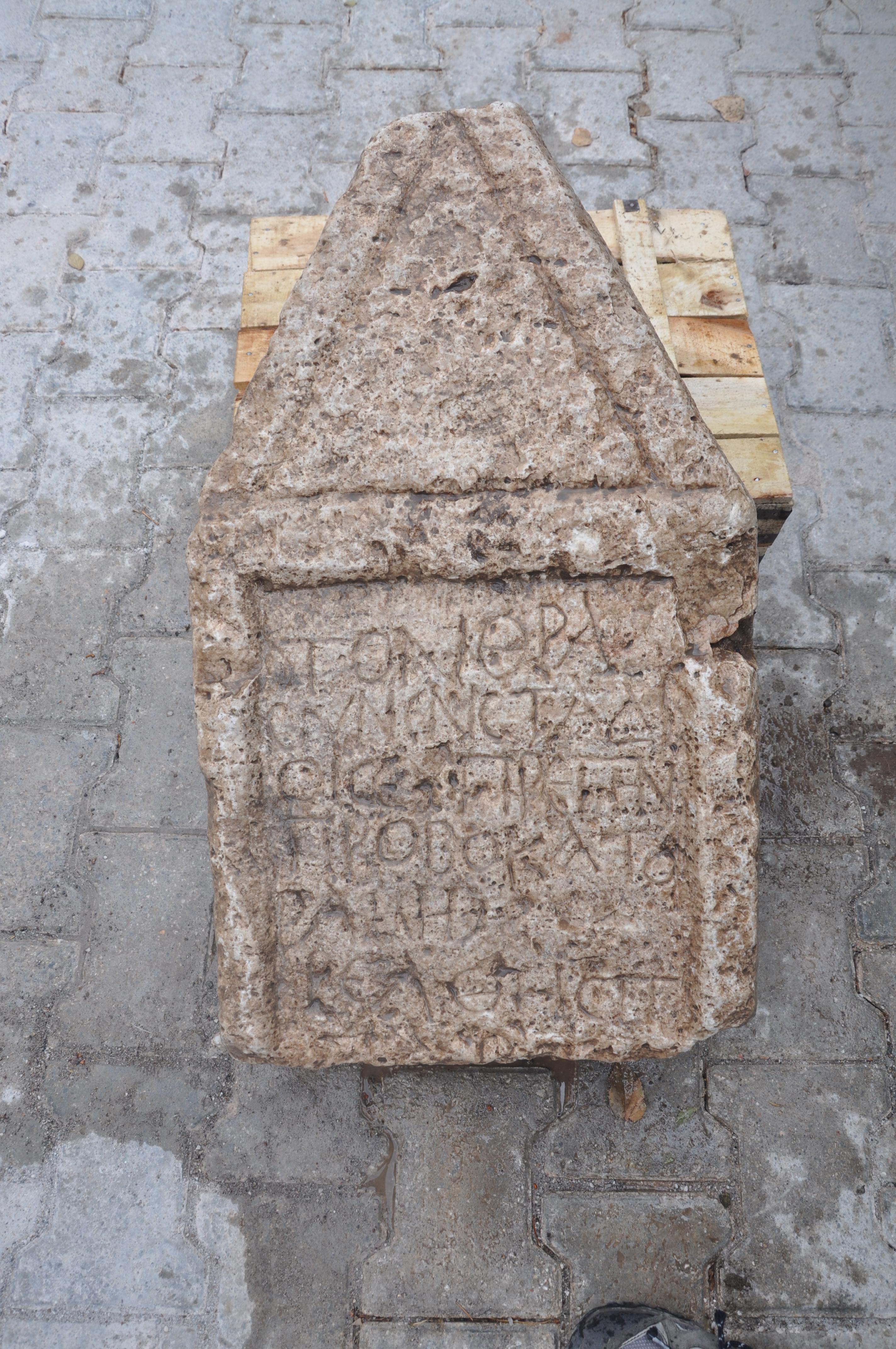 Euprepes'in mezar steli  M.S. 2-3. Yüzyıl.B.ERCİYAS_17 (yazıt provokator)