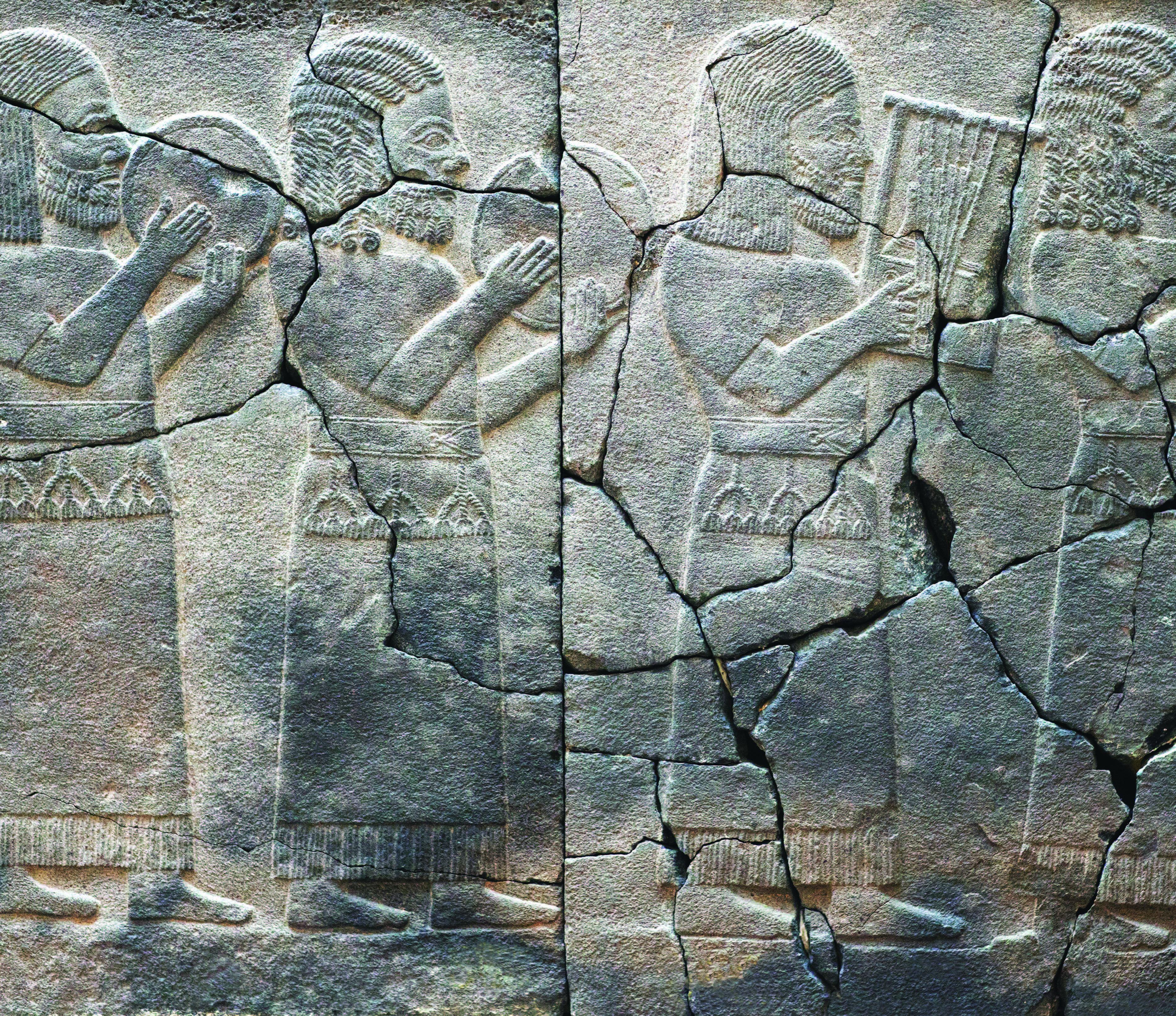 Güneydoğu Anadolu'daki Geç Hitit kent devletlerinden biri olan Zincirli [Sam'al], Hitit müzisyenleri. İstanbul Arkeoloji Müzeleri