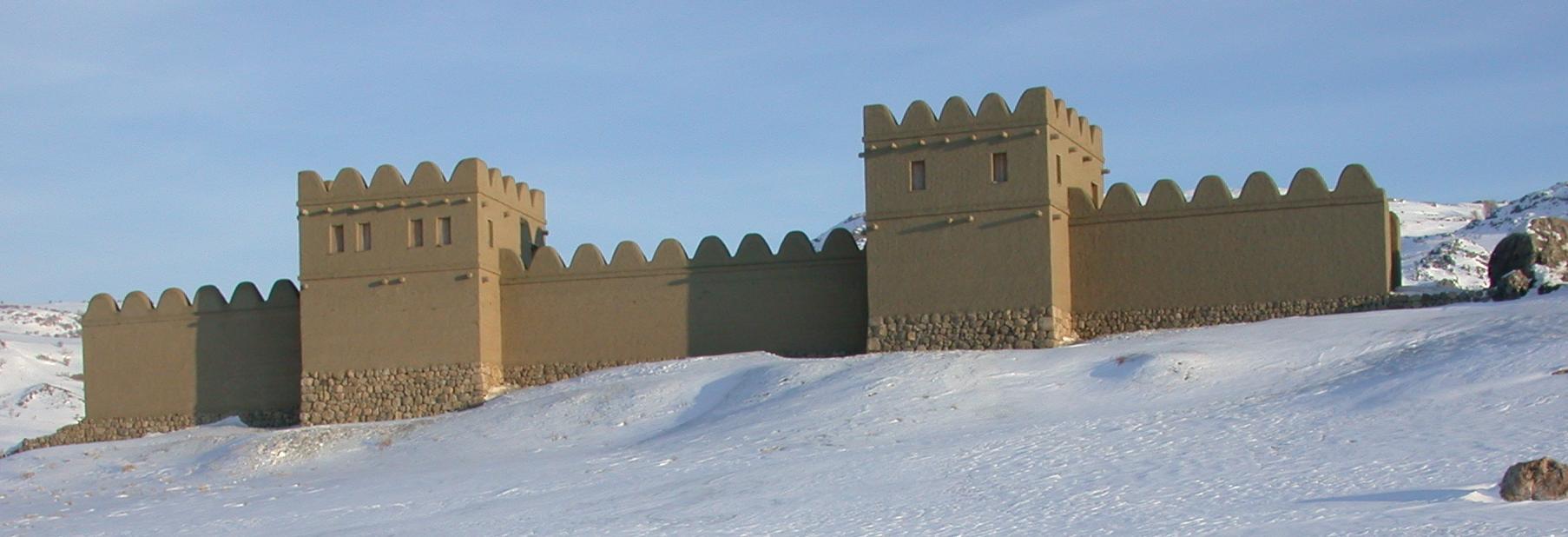 Hattuşa'nın ayağa kaldırılan 70 metrelik taş temelli kerpiç suru