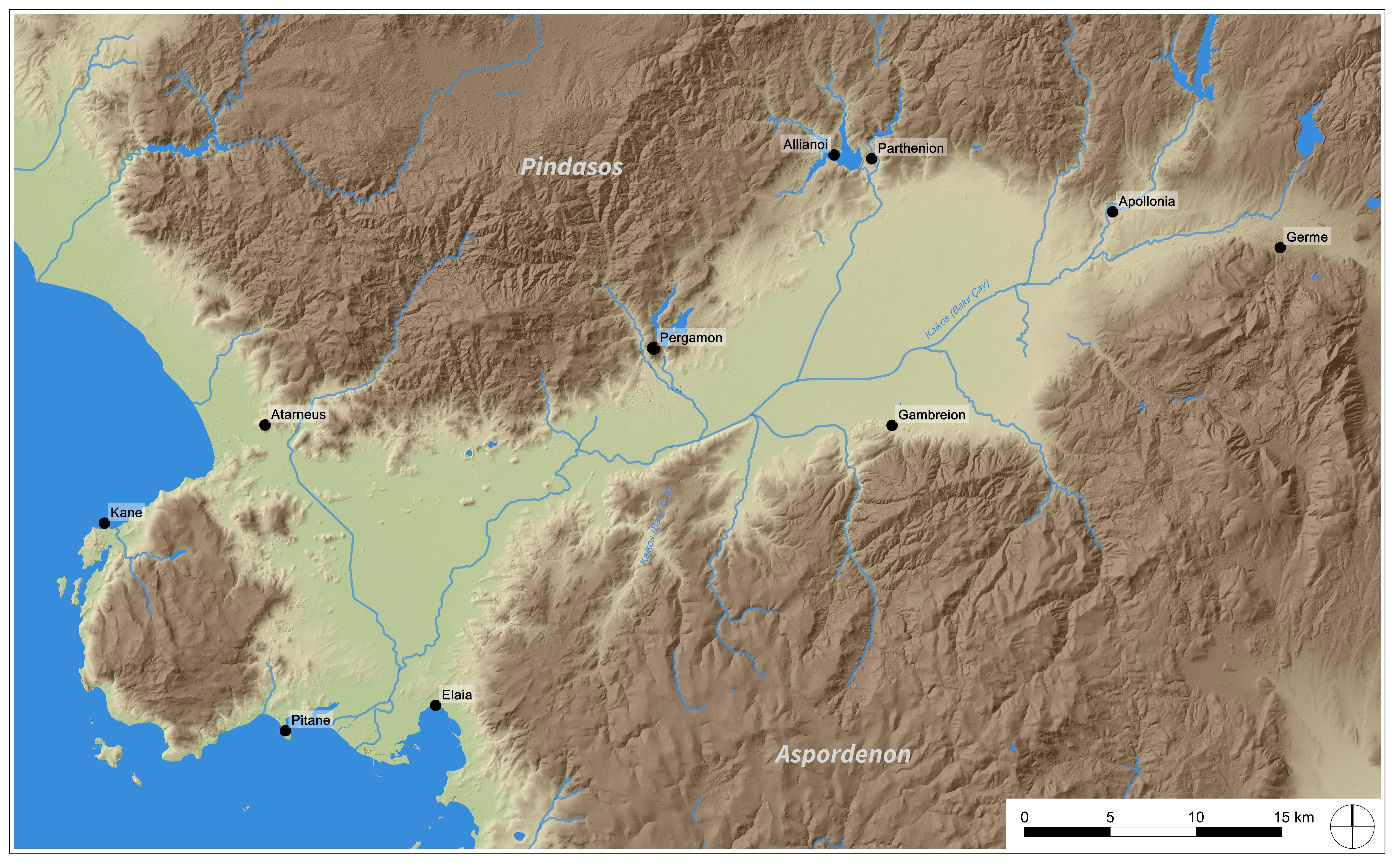 Pergamon mikro bölgesi (B. Ludwig – DAI-Pergamongrabung)