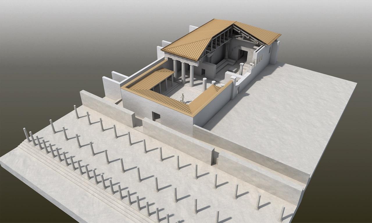Prytaneion'un rekonstrüksiyonu (© ÖAW-ÖAI, M. La Torre)
